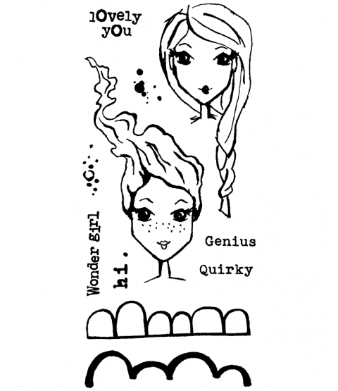 Long Hair Flair Clear Stamp Set 11412LC