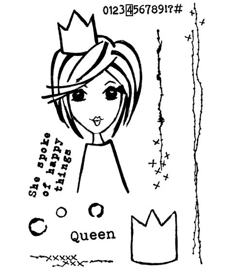 The Queen's Quips Clear Stamp Set 11411MC