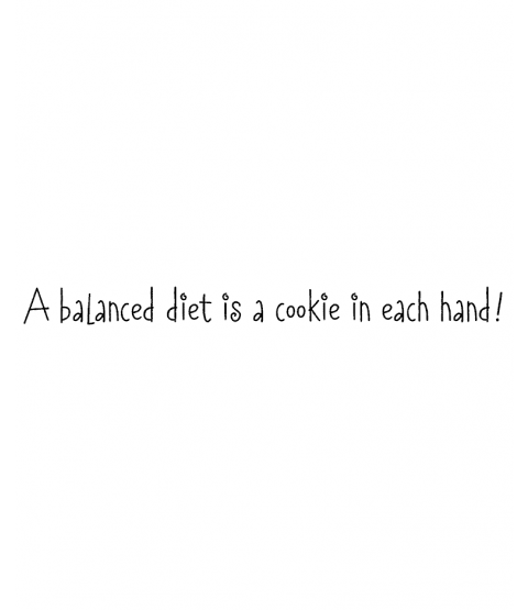 Nancye Williams Balanced Diet Wood Mount Stamp G4-0862F