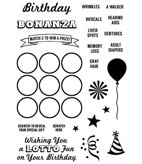 Birthday Bonanza Clear Stamp Set - 11338MC