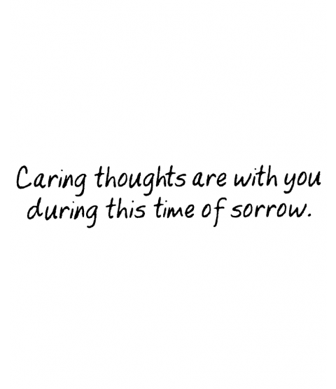 Caring Thoughts Wood Mount Stamp E3-50152E
