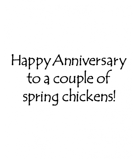 Hattie Lace Chicken Anniversary Wood Mount Stamp J5-73098F
