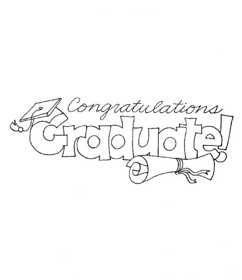 Congrats Grad Wood Mount Stamp P6-1562J
