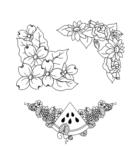 Floral Corners Clear Stamp Set 11101SC