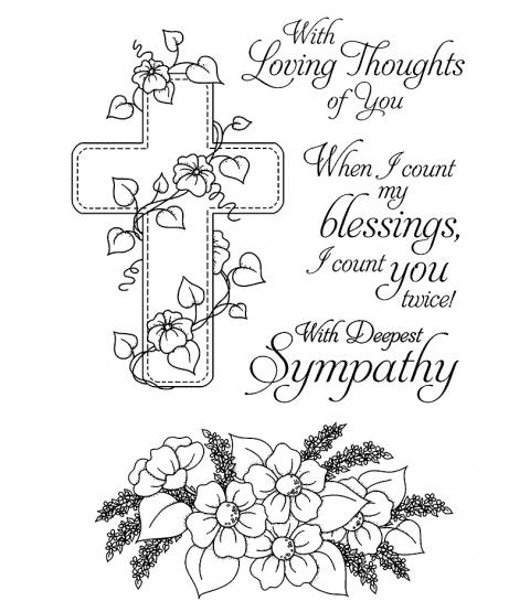 Floral Faith Clear Stamp Set 11097MC