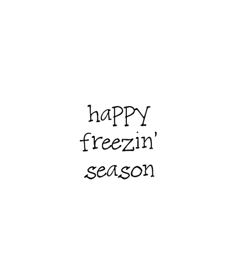 Janie Miller Freezin' Season Wood Mount Stamp D3-10378D
