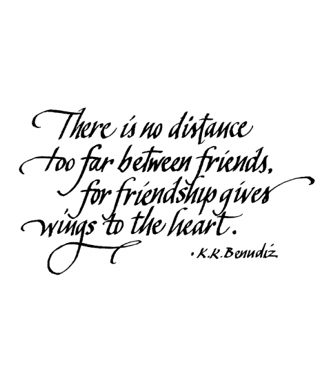 Friendship Gives Wings Wood Mount Stamp K3-10090H