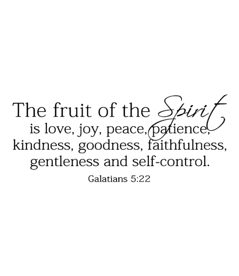 Fruit of The Spirit Wood Mount Stamp J3-0361G