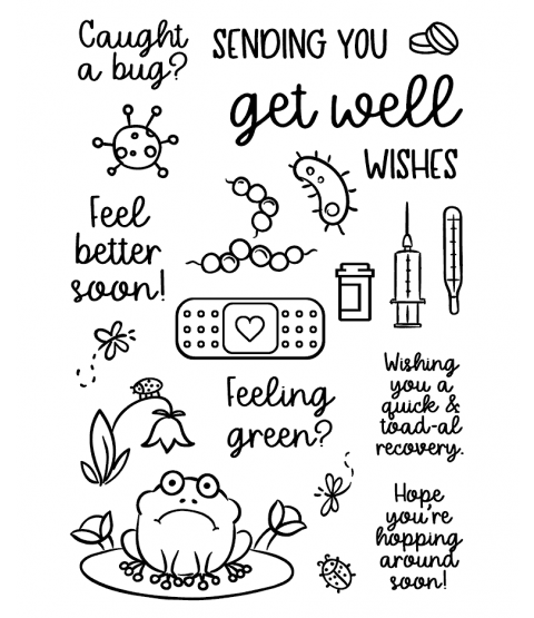 Get Well Clear Stamp Set: 11403MC
