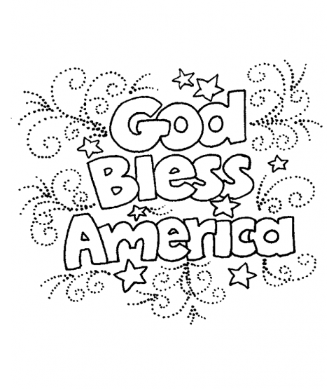 God Bless Wood Mount Stamp K1-0103G