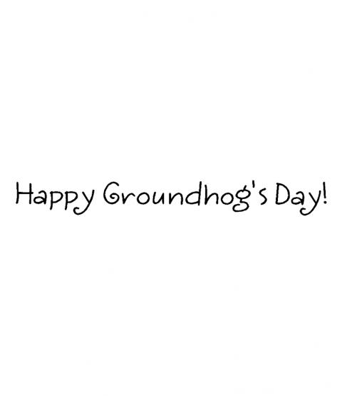 Janie Miller Groundhog Day Wood Mount Stamp G3-99301F