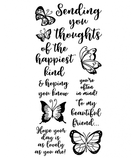 Happiest Thoughts Clear Stamp Set - 11400LC