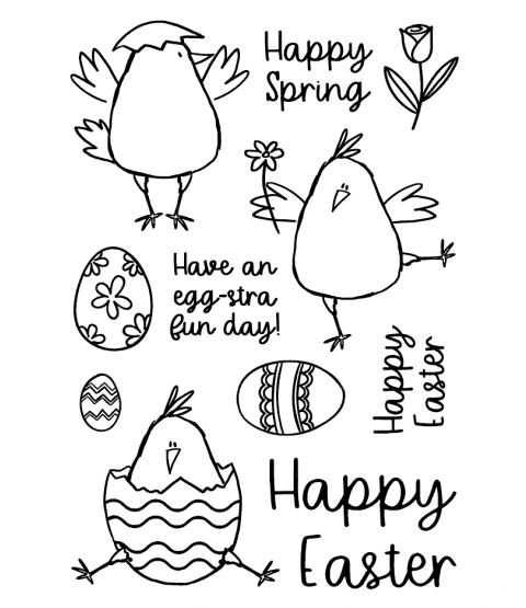 Happy Chicks Clear Stamp Set - 11405MC