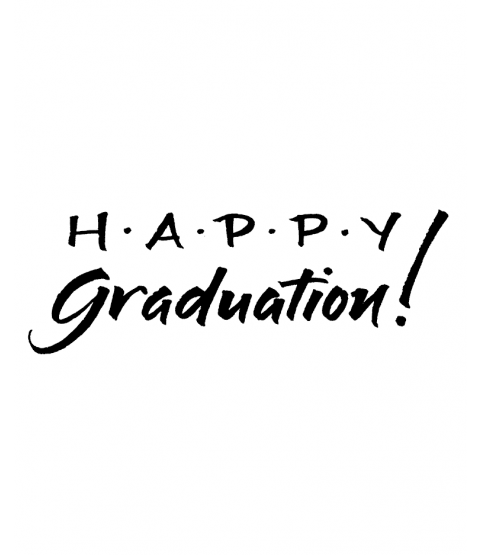 Happy Graduation Wood Mount Stamp J3-10081G