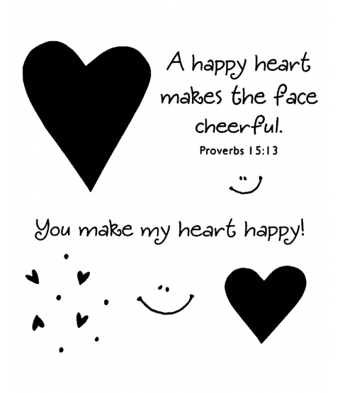 Happy Hearts Clear Stamp Set 11022SC