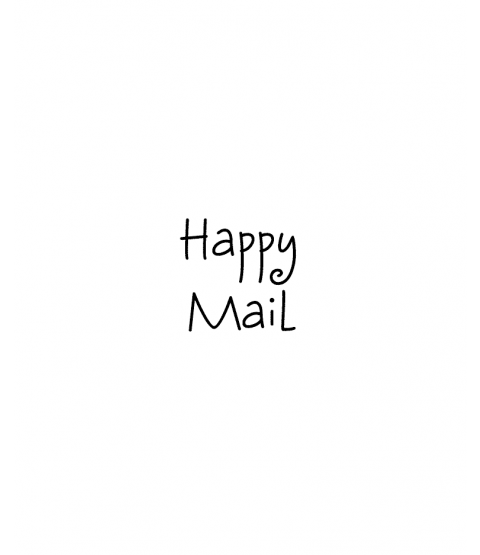 Happy Mail Wood Mount Stamp C1-0804C