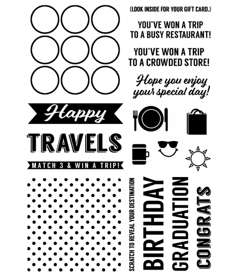 Happy Travels Gift Card Clear Stamp Set 11376MC