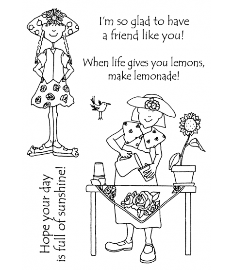 Hattie Lace Lemonade Time Clear Stamp Set 11184MC