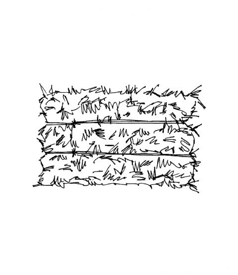 Janie Miller Hay Bale Wood Mount Stamp G2-10407F