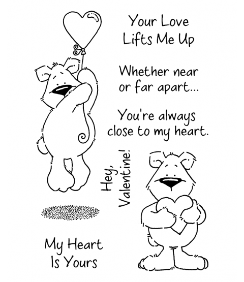 Heart Benton Bear Clear Stamp Set 11079MC