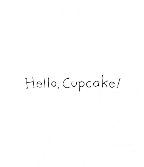 Ronnie Walter Hello Cupcake Wood Mount Stamp D6-10788D