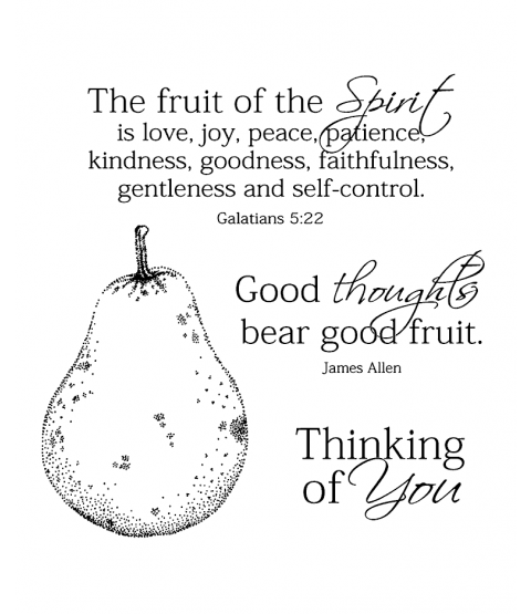 Holy Spirit's Fruit Clear Stamp Set 11071SC