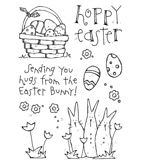 Hoppy Easter Clear Stamp Set 11233MC