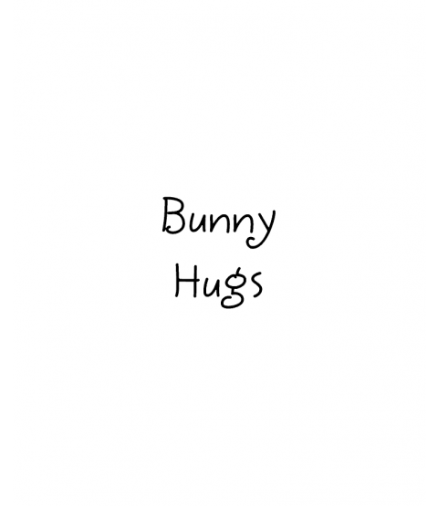Janie Miller Bunny Hugs Wood Mount Stamp C1-0015C