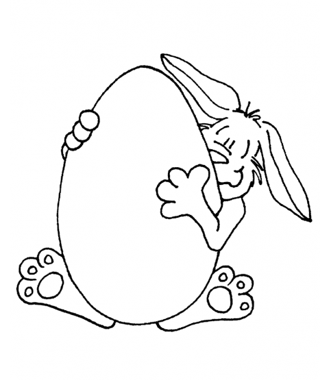 Janie Miller Bunny's Big Egg Wood Mount Stamp M2-0730J