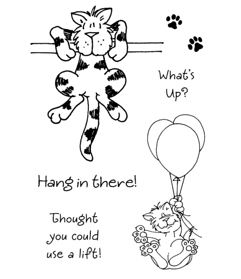 Janie Miller Charming Kitties #2 Clear Stamp Set - 10980MC