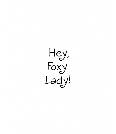 Janie Miller Foxy Lady Wood Mount Stamp D3-0580D
