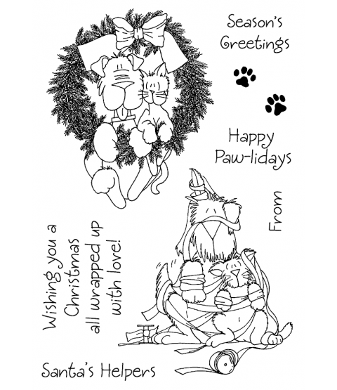 Janie Miller Preparing for Christmas Clear Stamp Set - 11275MC