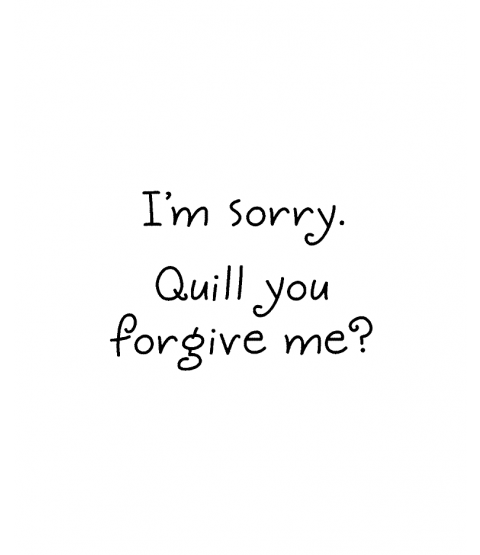 Janie Miller Quill Forgive Wood Mount Stamp D2-0574D