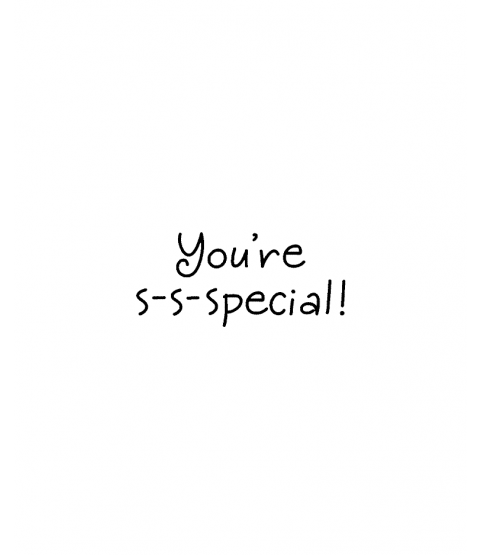 Janie Miller You're Special Wood Mount Stamp D7-0603D