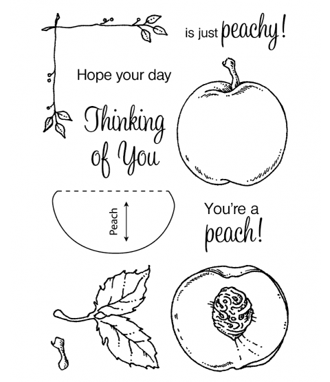 Just Peachy Clear Stamp Set 11107MC