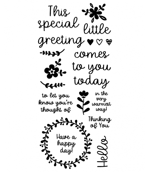 Little Greeting Clear Stamp Set: 11402LC