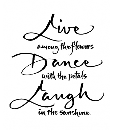 Live Dance Laugh Wood Mount Stamp M5-10102J