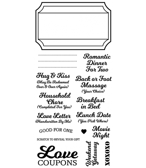 Love Coupons Clear Stamp Set - 11334LC