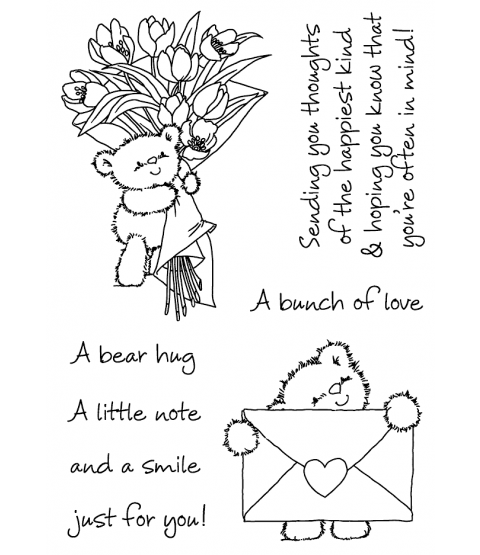 Maria Woods Chickpea Bear's Deliveries Clear Stamp Set - 11300MC