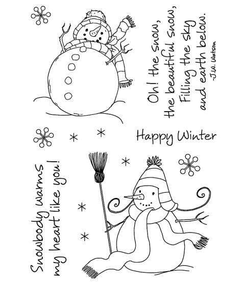 Maria Woods Sassy Snowman Clear Stamp Set - 11274MC
