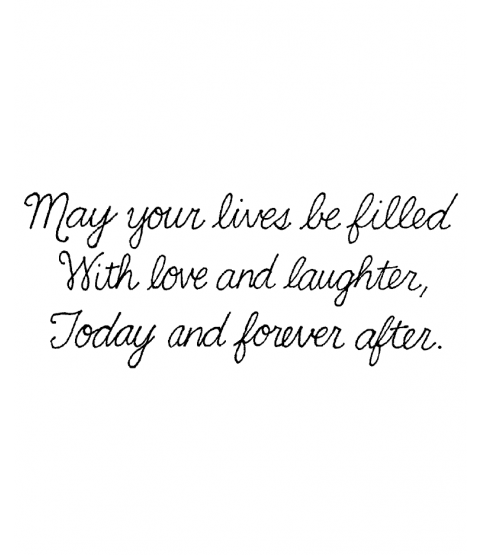 May Your Lives Wood Mount Stamp J5-1596F