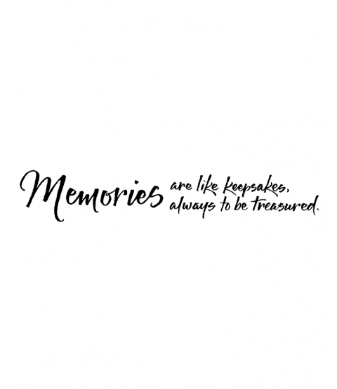 Memories Like Keepsakes Wood Mount Stamp J4-10084G