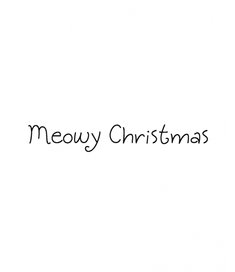 Janie Miller Meowy Christmas Wood Mount Stamp D5-10452D
