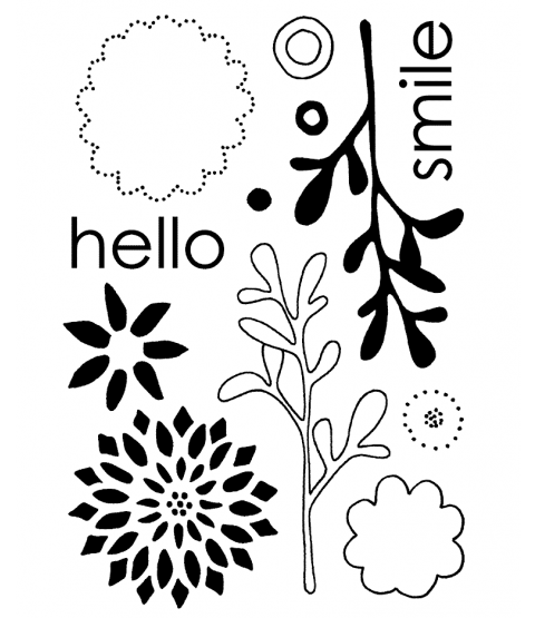 Mod Flowers Clear Stamp Set 10985MC