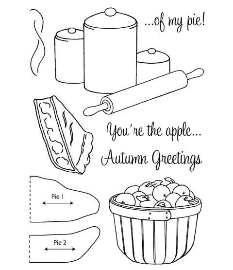 Nancy Baier Apple Pie Clear Stamp Set 11120MC