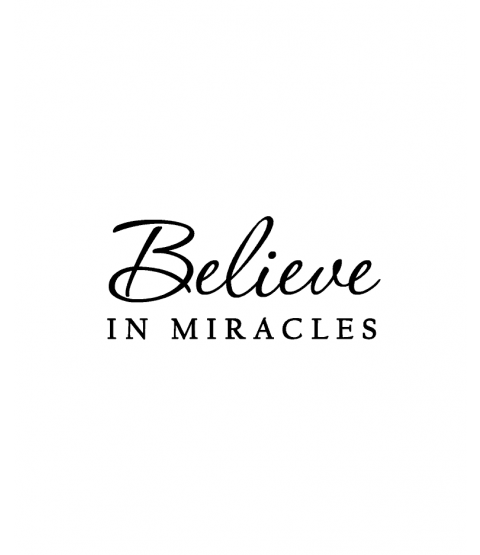 Nancy Baier Believe in Miracles Wood Mount Stamp D4-1533D
