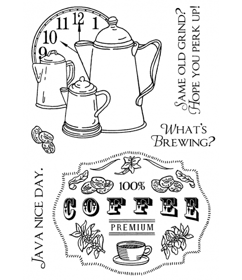 Nancy Baier Coffee Time Clear Stamp Set 11145MC