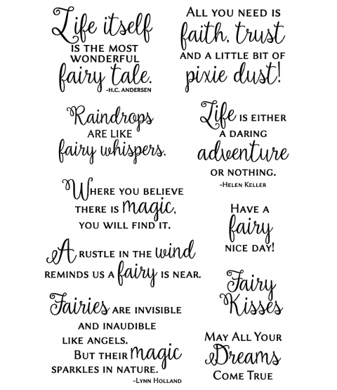 Nancy Baier Fairy Sentiments Clear Stamp Set 11311MC