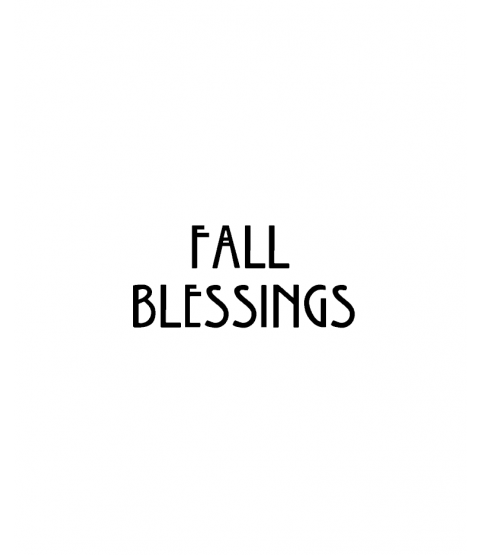 Nancy Baier Fall Blessings Wood Mount Stamp D2-1640D