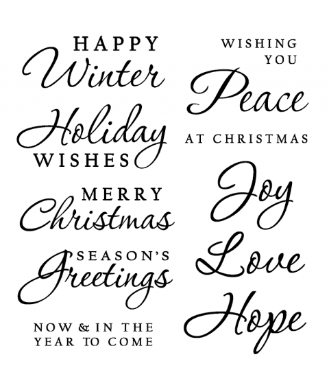 Nancy Baier Holiday Sayings Clear Stamp Set 11213SC